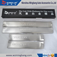 High Quality Stainless Steel Inner Door Sill Scuff Plate for Hyundai Tuscon 2013