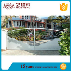 Classical and artistic sliding aluminum gate used for main entrance/Home decor of new products import export iron gate for sale