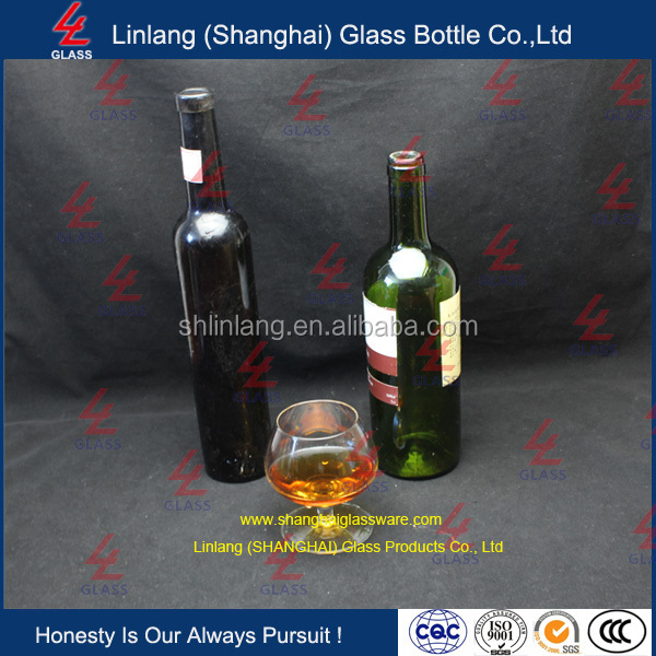Finely Processed Professional Clear Glass Bottle for Red Wine