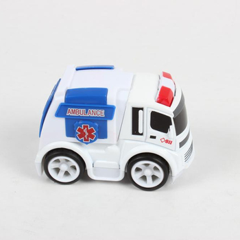Cartoon friction power mini diecast ambulance toy
