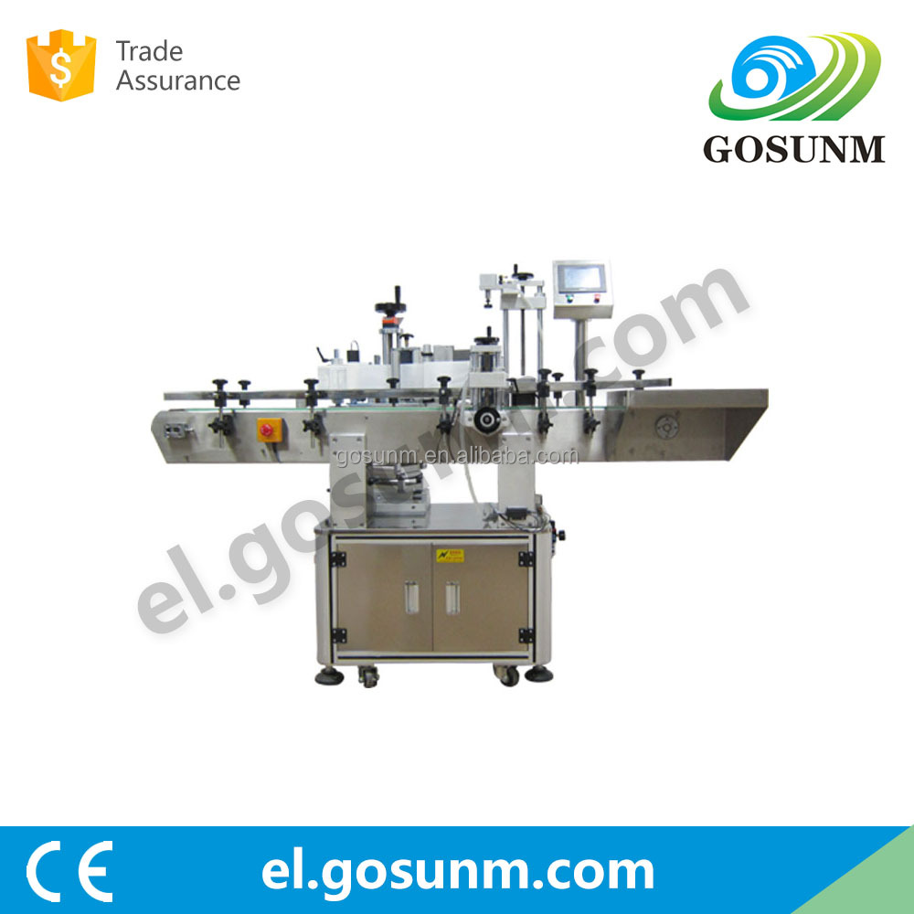 Automatic positioning round bottle sticker labeling machine