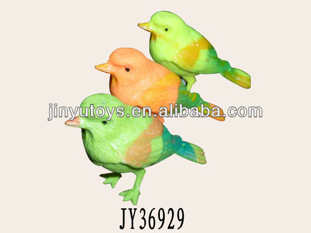 Sound control plastic singing bird toys for kids