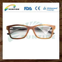 China Wholesale Custom Fashion Gradient Polarized wood eyewear frames For Reading Glasses