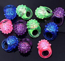 Soft Jelly Glowing In The Dark LED Glow Finger Rings Light For Wedding Birthday Party Favor