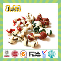 "2.5""-12.5"" 12g-170g Dog Toy Type Wholesale Bulk Sugar Free Dog Products 2 Color Knotted Bone Pet Food"