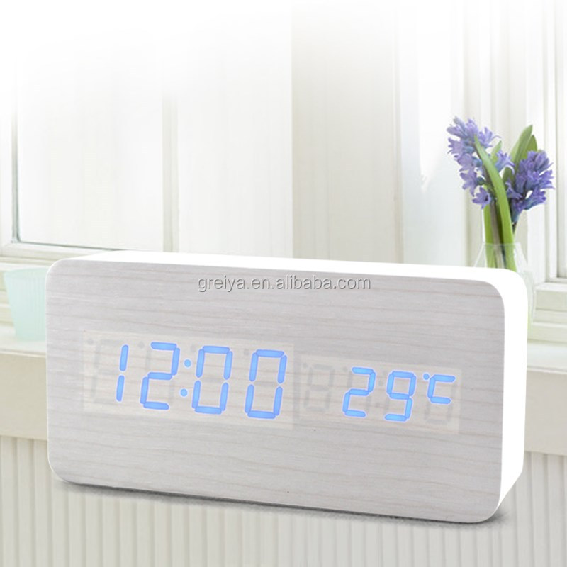 Top class Wholesale Cheap Colorful LED Touch Light Square Cube Alarm Clock