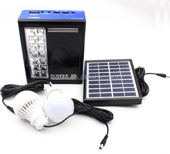 Solar powered backup for home light solar panel kit
