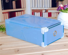 Cute candy colors plastic metal edge drawer shoe box packaging