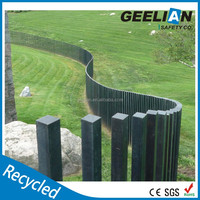 Black composite block cheap fence material