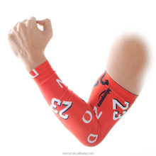 Sublimate Outdoor Athletic Skin Protection Sport Stretch football basketball Running Cooling Compression Arm Sleeves