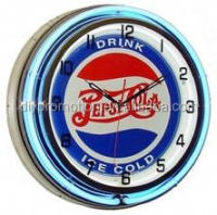 Bar Decorative neon light wall clock