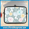 Handmade felt 2016 Latest Designer Flower Print Neoprene Laptop Sleeve