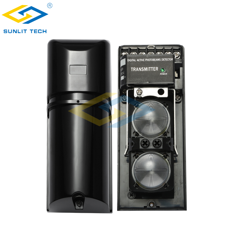 Dual Beam 100m Outdoor Active Infrared Beam Alarm For Fence Perimeter Security System