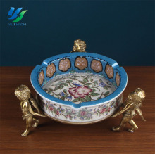 2017 Cute Ashtrays Ashtray Portable Pocket Antique Bronze Ashtrays