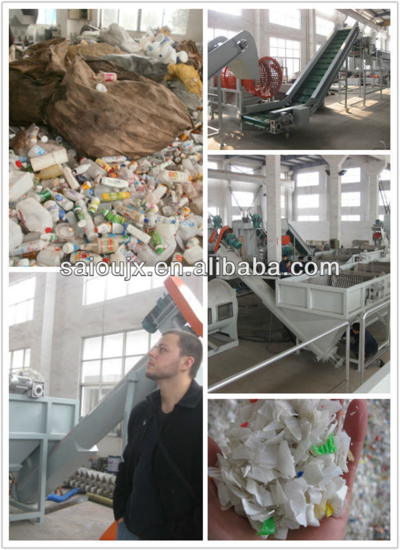 Cost of grinder waste plastic film bottle bag recycling machine price for sale