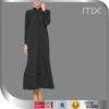 2016 New Beautiful Muslim Wear Ladies Balck Abaya Maxi Dress Kaftan And Beaded Long Dress African Muslim Clothing