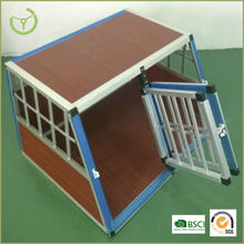 Double heavy duty Dog cage with aluminum frame and Wooden board