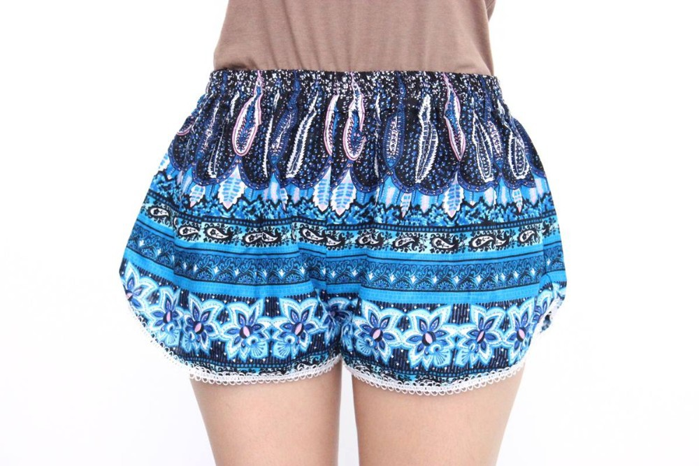Bright Blue Summer Shorts Colorful Beachwear Thailand