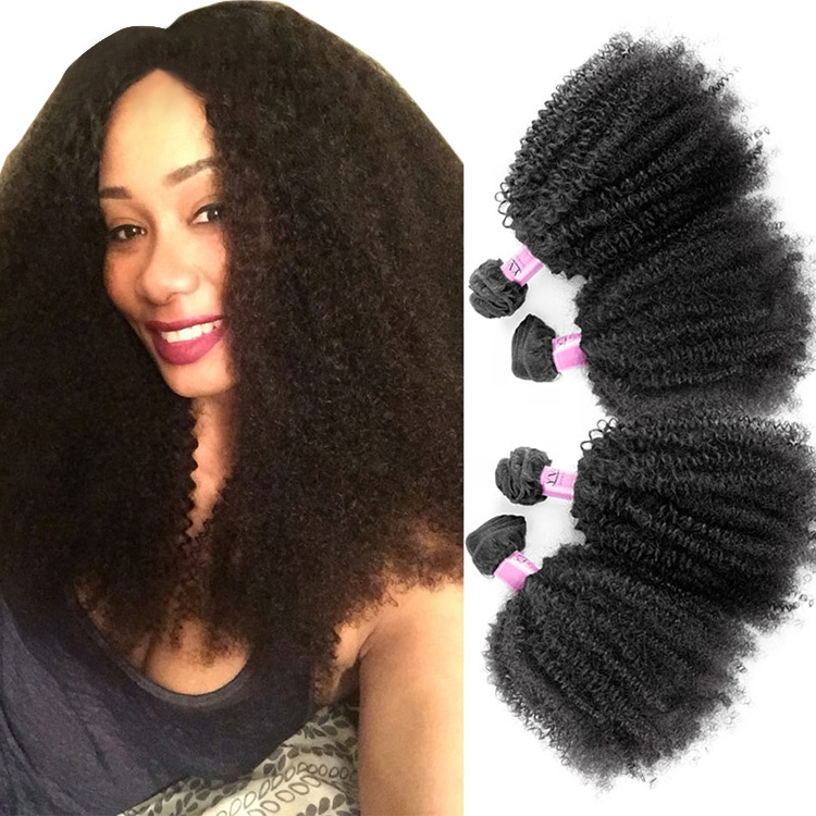Wholesale Afro Kinky Curly 100% Raw Virgin Brazilian Human <strong>Hair</strong> For Black Women
