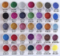 300 different colors glitter powder for fashion nail decoration