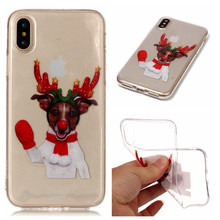 OEM Custom Christmas Pattern UV Printing TPU Case For IPhone 5 6 7 8 X
