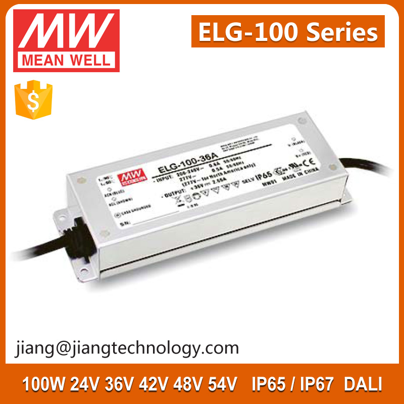 100W 42V 2.28A IP67 Constant Voltage LED Driver Enclosure ELG-100-42