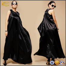 Ecoach custom women ladies Asymmetric lone sleeve one shoulder o neck abaya 2016 long maxi dress kaftan dubai style wholesale