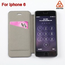 Newest arrvial custom made mobile phone pu leather case wallet for iphone 4s,flip leather case for iphone