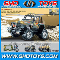 1:16 scale camouflage color 4ch rc jeep with light