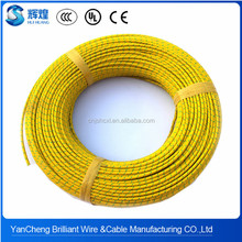 0.5mm2 green and yellow fiber glass braiding silicone wire and cable per roll price