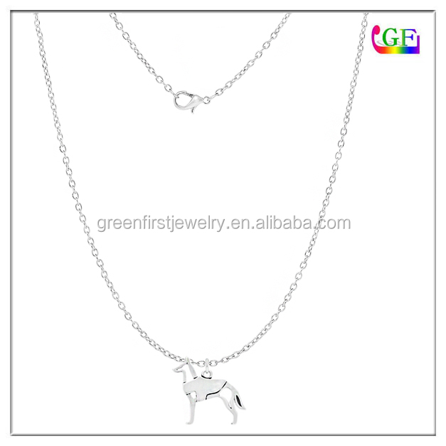Dog Silhouette Necklace Animal Lovers Pet Gift