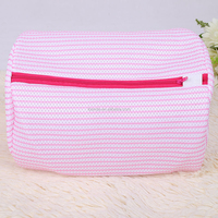 Folding mesh zipper laundry bag collapsible underwear washing bag