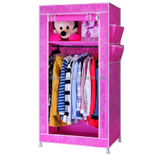 Modern Portable Folding Fabric Canvas Clothes Closet folding folding folding wardrobe