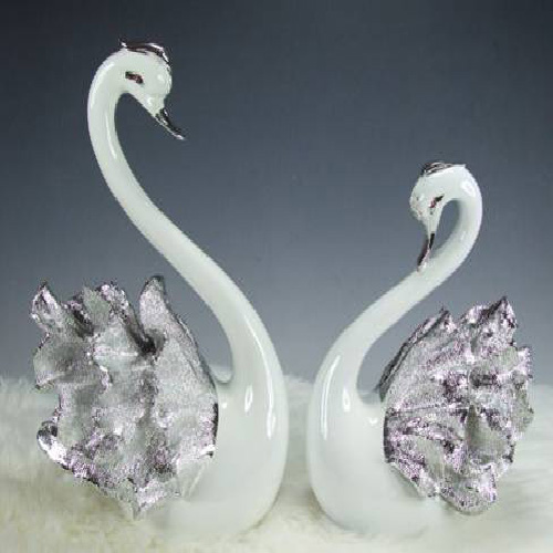 christmas beautiful gifts couple resin swan polyresin figure elegant design