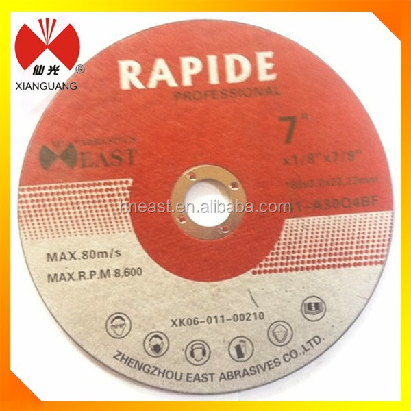 7 inch abrasive black paper cutting wheel