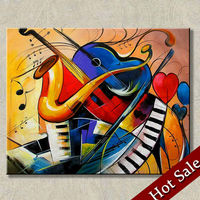 Surrealist painting abstract art music theme, high-quality hand-painted wall art home decor picture wholesale