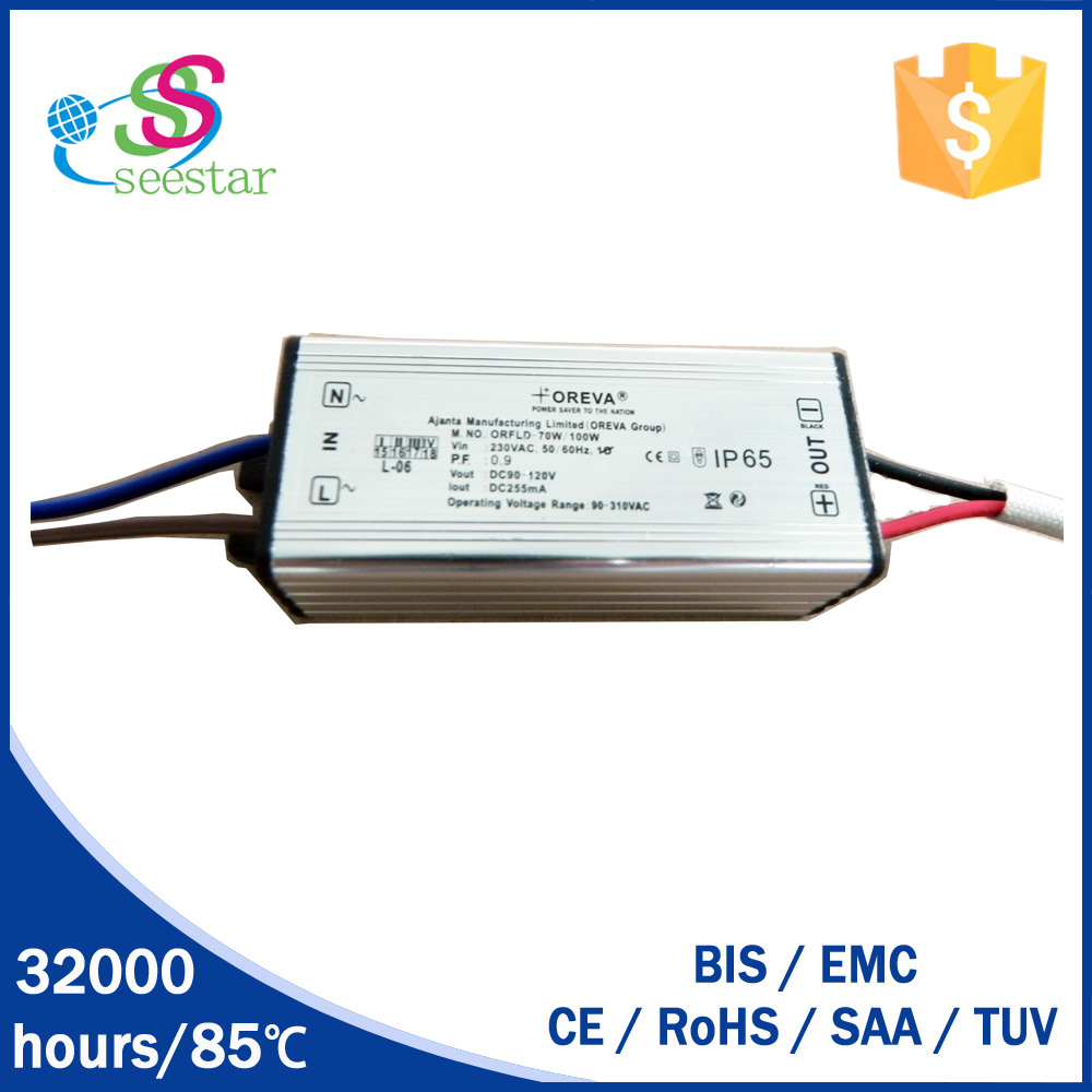 BIS waterproof led driver 70w 100w led power supply constant current switching power supply