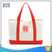 High quality custom printed promotional cotton canvas shopper bag