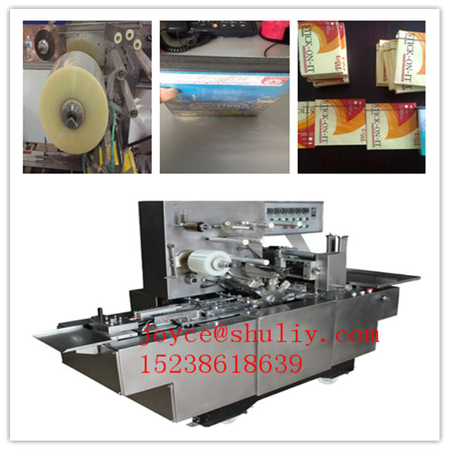SL350 adjustable cellophane film overwrapping machine for Cigarettes