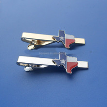 texas map souvenirs tie clips, personalized tie pins for texas men