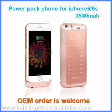 2 in one power back 3500mah mobile phone for iphone6/6s