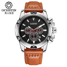Hot Selling Geneva Watches Water Proof For Men Fashion Big Dial Quartz Watches