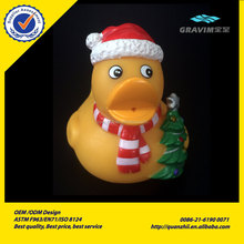 promotional custom yellow funny christmas vinyl rubber weighted duck toys