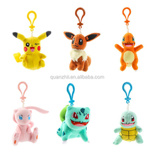 Best selling high quality stuffed soft Cute plush Pokemon GO Toys stuffed animal keychain mini plush