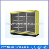 Supermarket upright manufacturer beverage beer bottle display refrigerator