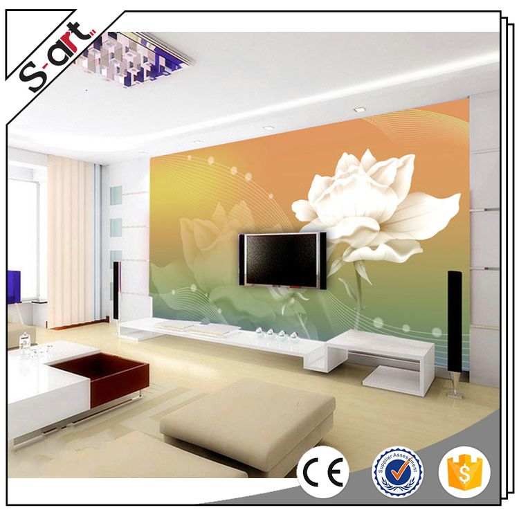Artist designed crazy selling 3d wall murals wallpaper flower