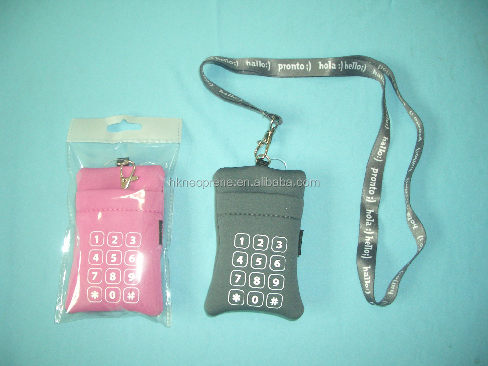 Neoprene Mobile Phone Pouch Case With Strap For I Phone Cell Phone Pouch