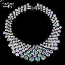 Dvacaman Brand 2017 Fashion Za Crystal Chokers For Women Luxury Party Collar Custom Jewelry Women Statement Necklace&Pendant N46