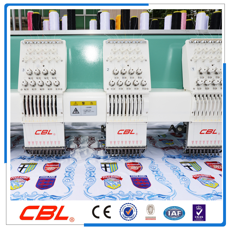 Hot sale six head flat computerized embroidery machine