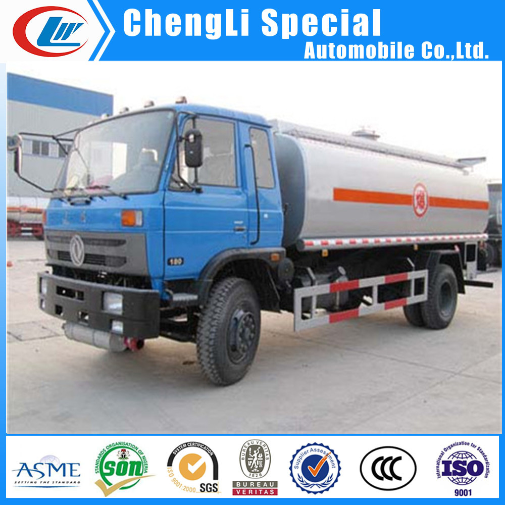 4X2 fuel mobile truck DONGFENG oil transport truck 15CBM oil transporter